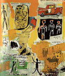 Untitled Graffiti - Jean-Michel-Basquiat