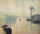 River Early Morning 1888 - Camille Pissarro
