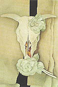 Georgia O'Keeffe Cow's Skull with Calico Roses 1931