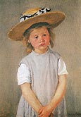 Child in Straw Hat - Mary Cassatt
