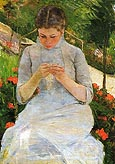 Young Woman Sewing 1883 - Mary Cassatt
