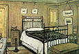 L-S-Lowry The Bedroom, Pendlebury 1940