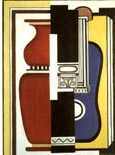 Fernand Leger Blue Guitar and Vase 1926