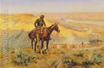 The Wagon Boss - Charles M Russell reproduction oil painting