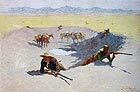 Frederic Remington The Fight for the Waterhole