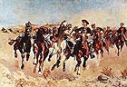 Frederic Remington Dismounted: The Fourth Troopers Moving the Lead Horses