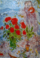 Marc Chagall The Lovers Bouquet of Roses
