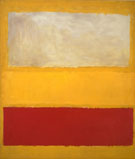 Mark Rothko No 13 White Red on Yellow