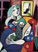 Pablo Picasso Woman with Book 1932