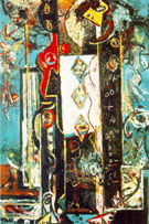 Jackson Pollock Male and Female 1942