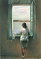 Salvador Dali Girl Standing at the Window 1925