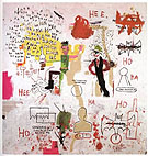 Riddle Me This Batman - Jean-Michel-Basquiat reproduction oil painting
