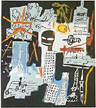 Carbon/Oxygen - Jean-Michel-Basquiat reproduction oil painting