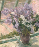 Lilacs in a Window 1880 - Mary Cassatt