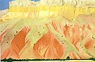 Georgia O'Keeffe Red and Yellow Cliffs 1940