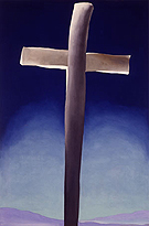Georgia O'Keeffe Grey Cross with Blue
