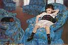 Little Girl in a Blue Armchair, 1878 - Mary Cassatt