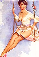 ROSE ON A SWING - Pin Ups