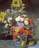 Mixed Flowers in Earthenware Pot 1896 - Pierre Auguste Renoir