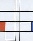 Piet Mondrian Composition with Red and Blue,  1936