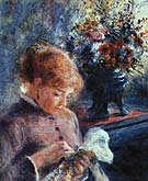Lady Sewing 1879 - Pierre Auguste Renoir