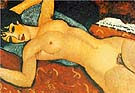 Amedeo Modigliani Nude on a Cushion 1917
