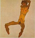 Egon Scheile Seated Nude Male1910