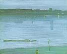 James McNeill Whistler Nocturne: Blue and Silver - Chelsea  1871