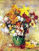 Bouquet of Chrysanthemums - Pierre Auguste Renoir