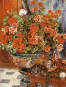 Geraniums and Cats 1881 - Pierre Auguste Renoir