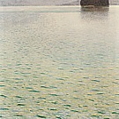 Gustav Klimt Island in Lake Atter, 1901
