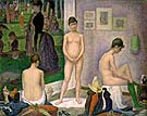 The Models 1888 - Georges Seurat