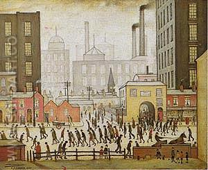 Coming from the Mill 1930 - L-S-Lowry reproduction oil painting