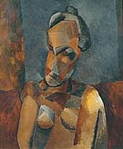 Bust of a Woman 1909 - Pablo Picasso