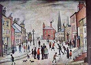 A Lancashire Village 1935 - L-S-Lowry reproduction oil painting