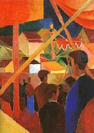 The Tightrope Walker 1914 - August Macke