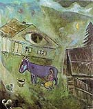 Marc Chagall The House with the Green Eye 1944
