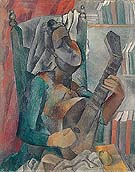 Woman with Mandolin - Pablo Picasso