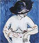 Ernst Kirchner Female Nude with Hat, 1911