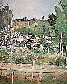 View of Auvers-sur-Oise-The Fence, 1873 - Paul Cezanne