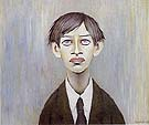 Portrait of a Young Man 1955 (Man with the red eyes) - L-S-Lowry