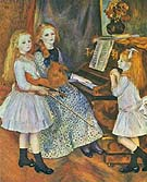 The Daughters of Catulle Mendes 1888 - Pierre Auguste Renoir