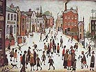 A Village Square - L-S-Lowry reproduction oil painting