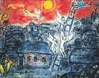 Jacob's Ladder - Marc Chagall reproduction oil painting