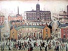 V E DAY - L-S-Lowry reproduction oil painting