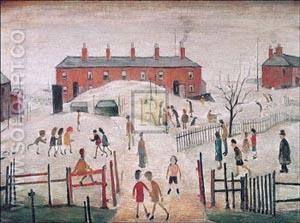 The School Yard - L-S-Lowry reproduction oil painting