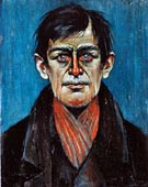 Head of  Man - L-S-Lowry reproduction oil painting