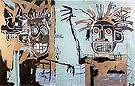 Two Heads on Gold 1982 - Jean-Michel-Basquiat