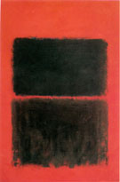 Mark Rothko Light Red Over Black