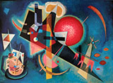In Blue 1925 - Wassily Kandinsky reproduction oil painting